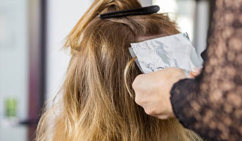 Blonde foils With Foil Paper
